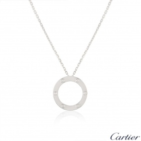 Cartier White Gold Diamond Love Necklace B7014900